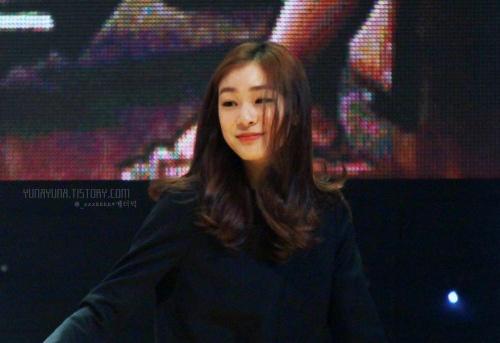 Yuna Kim participates in the KB Rock Star Talk Concert